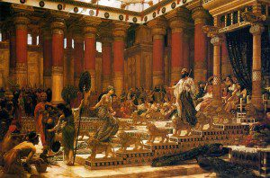 Visit of the Queen of Sheba with Solomon by Edward Poynter [Public domain], via Wikimedia Commons