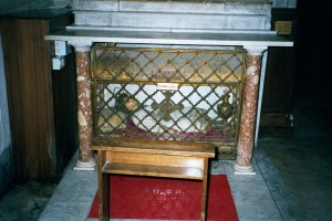 Martyr's Body in St Peter in Chains, Rome. Photograph by Henry Karlson