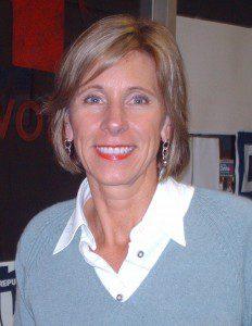 Betsy DeVos. Photograph by Keith A. Almli (https://en.wikipedia.org/wiki/File:Betsy_Devos.jpg) [CC BY-SA 3.0 (http://creativecommons.org/licenses/by-sa/3.0)], via Wikimedia Commons