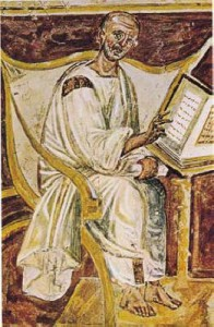 Augustine image in the Lateran,  [Public domain], via Wikimedia Commons