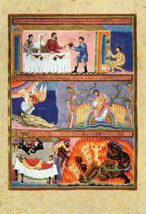 By Meister des Codex Rich Man and Lazarus by Aureus Epternacensis [Public domain], via Wikimedia Commons