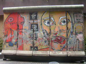Piece of the Berlin Wall in New York by By Gaurav1146 (Own work) [GFDL (http://www.gnu.org/copyleft/fdl.html) or CC BY-SA 4.0-3.0-2.5-2.0-1.0 (http://creativecommons.org/licenses/by-sa/4.0-3.0-2.5-2.0-1.0)], via Wikimedia Commons