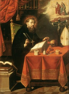 Saint Augustine by Antonio Rodríguez (1636 - 1691) – Painter Details of artist on Google Art Project [Public domain], via Wikimedia Commons
