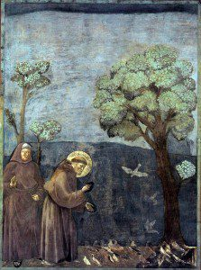 Saint Francis Preaching to the Birds by Giotto [Public Domain] via WikimediaCommons