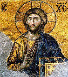 Jesus Christ from Hagia Sophia. Photograph by Edal Anton Lefterov (Own work) [CC BY-SA 3.0 (http://creativecommons.org/licenses/by-sa/3.0)], via Wikimedia Commons