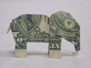 Elephant Origami [Public domain], via Wikimedia Commons
