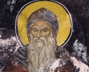 Saint Pambo by unknown Orthodox Christian painter (Eastern Orthodox Church) [CC0, Public domain or Public domain], via Wikimedia Commons