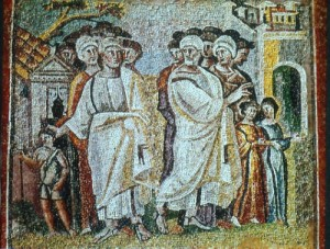 Mosaic of the Parting of Lot and Abraham. St. Maria Maggiore via WikimediaCommons