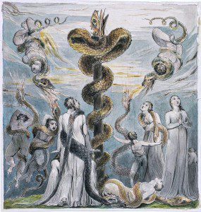 Moses and the Serpent by William Blake. (Warrior of Light) [Public domain], via Wikimedia Commons