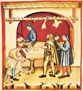 14th century butcher by unknown master (book scan) [Public domain], via Wikimedia Commons