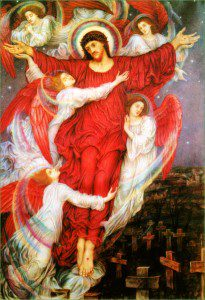 The Red Cross by Evelyn De Morgan [Public domain], via Wikimedia Commons
