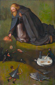 The temptation of Saint Anthony by Hieronymus Bosch [Public domain], via Wikimedia Commons
