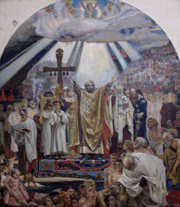 Baptism of Rus by Viktor Vasnetsov [Public domain], via Wikimedia Commons