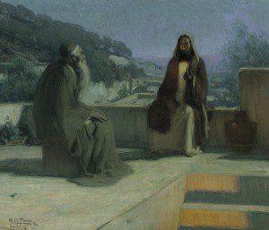 Jesus and Nicodemus by Henry Ossawa Tanner [Public domain], via Wikimedia Commons