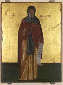 St. Anthony the Great. Cretan School [Public domain], via Wikimedia Commons