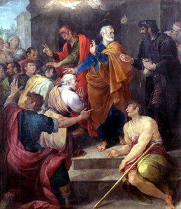 The Apostles confront Simon Magus by Avanzino Nucci [Public domain], via Wikimedia Commons