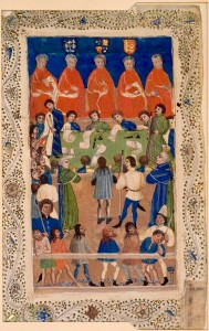 A manuscript of the Court of King's Bench at work [Public domain], via Wikimedia Commons