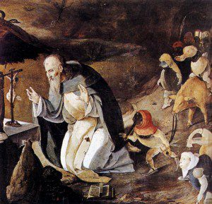 The Temptation of St. Anthony by Lucas van Leyden [Public domain], via Wikimedia Commons