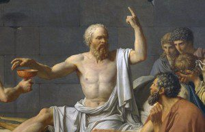 ropped version of Jacques-Louis David's The Death of Socrates [Public domain], via Wikimedia Commons