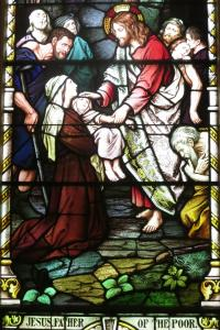 Sorrowful_Mother_Shrine_Chapel_(Bellevue,_Ohio)_-_stained_glass,_Jesus_Father_of_the_Poor