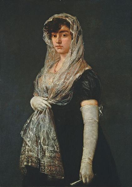 Goya_-_Young_Lady_Wearing_a_Mantilla_and_Basquina