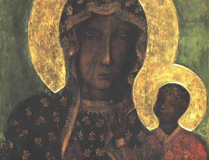 Image source: The Black Madonna of Częstochowa; public domain.