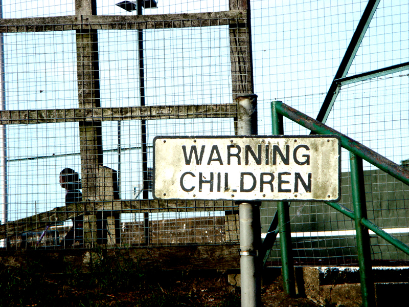 """""""Warning Children"""" by Cosey Fanni Tutti, Flickr. Used according to Creative Commons license."""