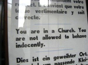 So, is this aimed at the parishioners or the priests?