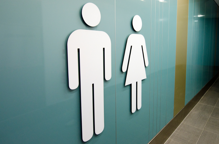 Men and women toilet signs.