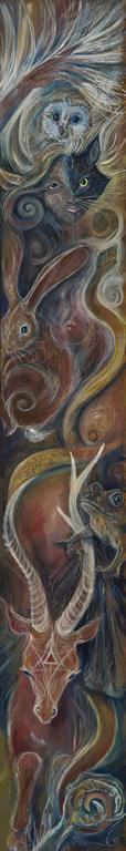 """Transformation"" - original painting by Laura Tempest Zakroff"