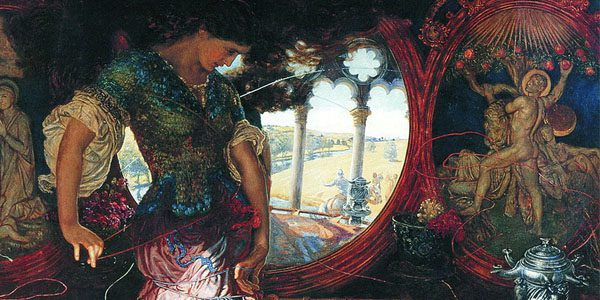 """Detail from Hunt's """"Lady of Shalott"""" Painting"""