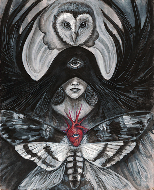 """Seer"" - painting by Laura Tempest Zakroff"
