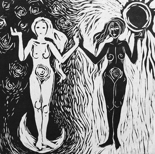 Moon & Sun - art by the author