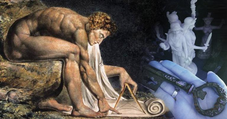 William Blake's Newton + photo by the author