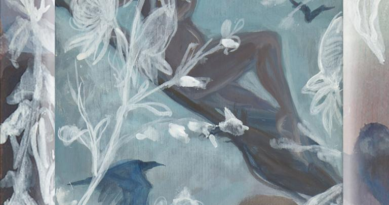 """Detail from the author's painting """"Ride to the Sabbat"""" from the Iconomag Series"""