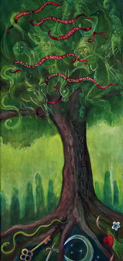 """""""The Walnut Tree of the Benevento"""" - painting by Laura Tempest Zakroff"""