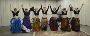 Me performing with my students and dance troupemates at a 3rd Friday Drum Circle at Playground Productions (Indianapolis).