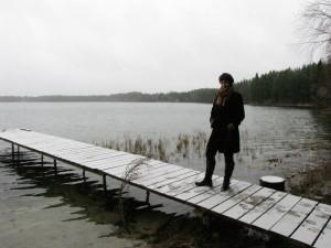 Me walking on... onto a pier in Lithuania. Like ya do.