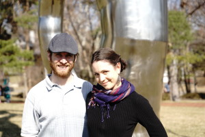Me and my husband at the Nelson-Atkins Art Museum in Kansas City. Photo by my friend Joe.