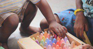 Children playing. Photo by Unsplash, taken by Tina Floersch.