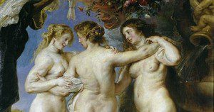 """""""The Three Graces"""" by Rubens. In public domain."""