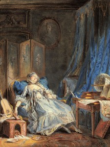 """-Baudouin, Pierre Antoine """"La_Lecture."""" -c. 1760"""