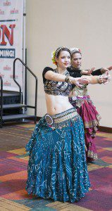 Me and a dear friend dancing ATS at GenCon in 2015. Photo by P. Shypula.