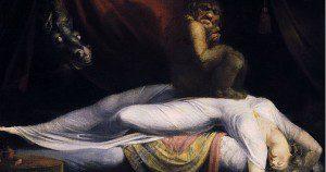 "John Henry Fuseli, ""The Nightmare."" In public domain; from Wikimedia Commons."