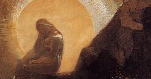 """Melancholy"" by Odilon Redon. Public domain."