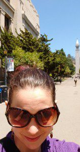 A selfie in front of the Campanile on the Cal campus last time I was there.