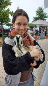 Life may be hard, but I think back to that time I held a baby goat at the farmers market.