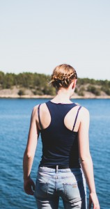 Not my bra straps in this picture, but I've worn stuff like this before! Photo by Johan Mouchet from Unsplash.