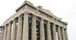 A photo I took of the Parthenon at the Acropolis in Athens. We often associate ancient Greece with democracy.