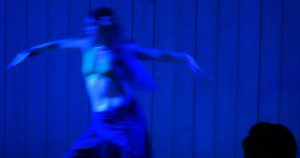 Still from an expressive dance solo I did.
